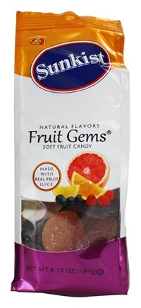 DROPPED: Jelly Belly - Sunkist All Natural Soft Fruit Candy Fruit Gems - 6.75 oz. CLEARANCE PRICED