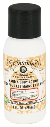 DROPPED: JR Watkins - Naturals Apothecary Hand & Body Lotion Travel Size Mango - 1 oz.
