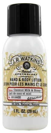 JR Watkins - Naturals Apothecary Hand & Body Lotion Travel Size Coconut Milk & Honey - 1 oz.