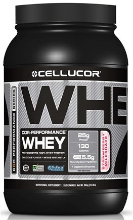 DROPPED: Cellucor - Cor-Performance Series Whey Strawberry Milkshake - 2 lbs. CLEARANCE PRICED