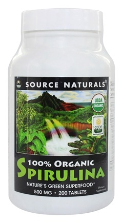 Source Naturals - Organic Spirulina 500 mg. - 200 Tablets
