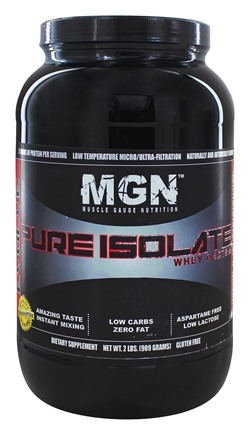 Muscle Gauge Nutrition - Pure Isolate Whey Protein Vanilla Caramel - 2 lbs.