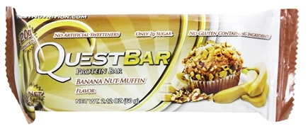DROPPED: Quest Nutrition - Quest Bar Protein Bar Banana Nut Muffin - 2.12 oz. Former Packaging