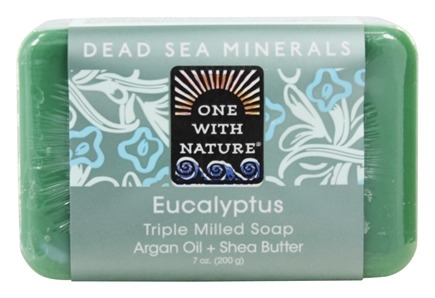 One With Nature - Dead Sea Minerals Triple Milled Bar Soap Eucalyptus - 7 oz.
