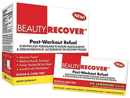 DROPPED: BeautyFit - BeautyRecover Post-Workout ReFuel Ice Lemonade - 25 Packet(s) CLEARANCE PRICED