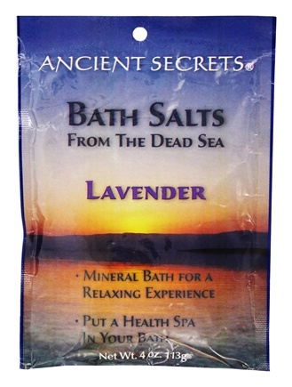 DROPPED: Ancient Secrets - Aromatherapy Dead Sea Mineral Bath Lavender - 4 oz. CLEARANCE PRICED