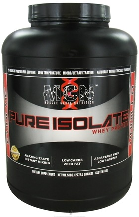 DROPPED: Muscle Gauge Nutrition - Pure Isolate Whey Protein Vanilla - 5 lbs.