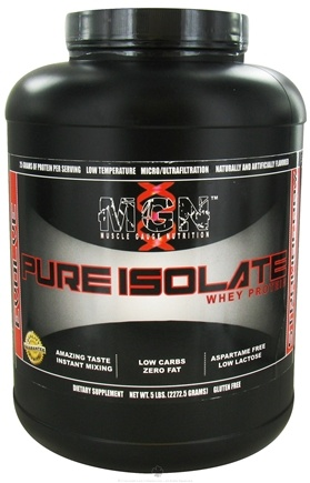 DROPPED: Muscle Gauge Nutrition - Pure Isolate Whey Protein Strawberry - 5 lbs.