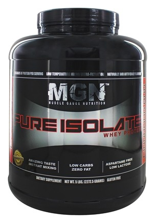 Muscle Gauge Nutrition - Pure Isolate Whey Protein Cinnamon Bun - 5 lbs.