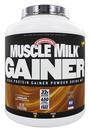 Cytosport - Muscle Milk Genuine High Protein Gainer Powder Drink Mix Chocolate - 5 lbs. LUCKY PRICE