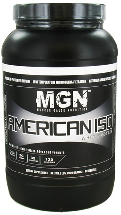 DROPPED: Muscle Gauge Nutrition - American Iso Whey Protein Rocky Road - 2 lbs. CLEARANCE PRICED