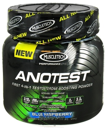 DROPPED: Muscletech Products - AnoTest Performance Series Testosterone Boosting Powder Blue Raspberry - 0.6 lbs.