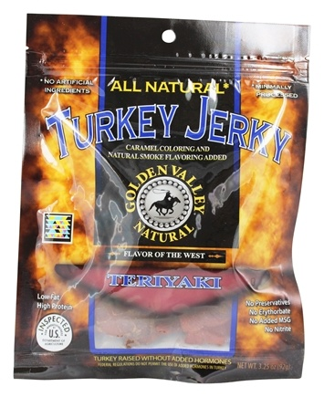 DROPPED: Golden Valley Natural - Natural Turkey Jerky with Naturally Smoked Flavoring Teriyaki - 3.25 oz. CLEARANCE PRICED
