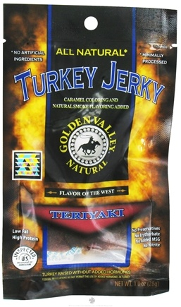 DROPPED: Golden Valley Natural - Natural Turkey Jerky with Naturally Smoked Flavoring Teriyaki - 1 oz. CLEARANCE PRICED