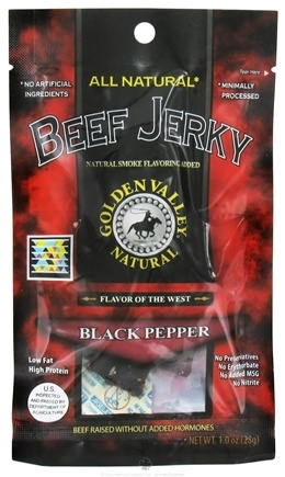 DROPPED: Golden Valley Natural - Natural Beef Jerky with Naturally Smoked Flavoring Black Pepper - 1 oz. CLEARANCE PRICED