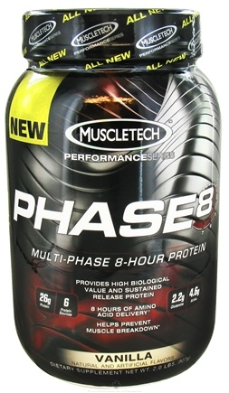 DROPPED: Muscletech Products - Phase8 Performance Series Multi-Phase 8-Hour Protein Vanilla - 2 lbs.