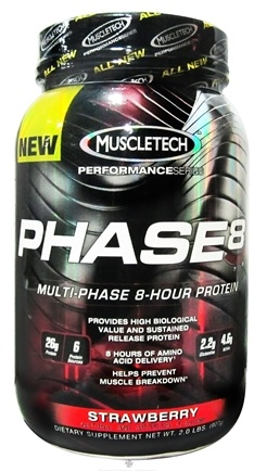 DROPPED: Muscletech Products - Phase8 Performance Series Multi-Phase 8-Hour Protein Strawberry - 2 lbs.