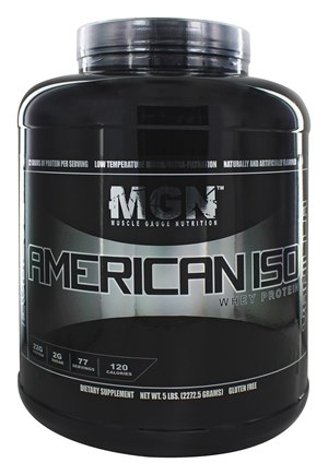 Muscle Gauge Nutrition - American Iso Whey Protein Vanilla - 5 lbs.