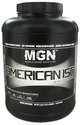 DROPPED: Muscle Gauge Nutrition - American Iso Whey Protein Strawberry - 5 lbs.