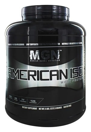 Muscle Gauge Nutrition - American Iso Whey Protein Rocky Road - 5 lbs.