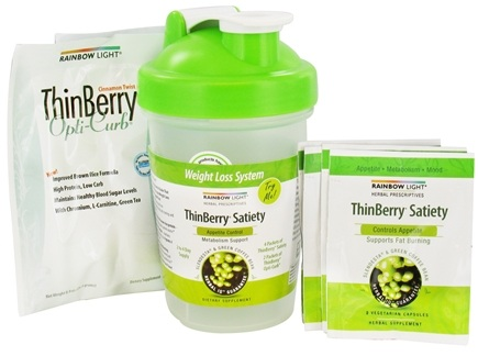 DROPPED: Rainbow Light - Thinberry Satiety Weight Loss System & Shaker Cup - 6 Packet(s)