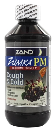 Zand - Zumka PM Cough and Cold Homeopathic Cough Syrup Elderberry - 8 oz.