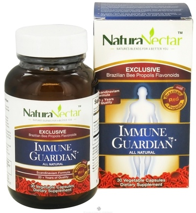 DROPPED: NaturaNectar - All Natural Immune Guardian - 30 Vegetarian Capsules CLEARANCE PRICED