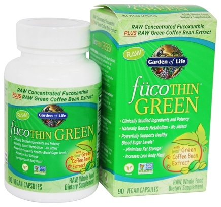 Garden of Life - FucoThin Green With Svetol Green Coffee Bean Extract - 90 Vegetarian Capsules