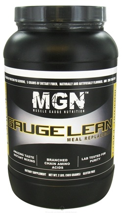 DROPPED: Muscle Gauge Nutrition - Gauge Lean Meal Replacement Fudge Brownie - 2 lbs.