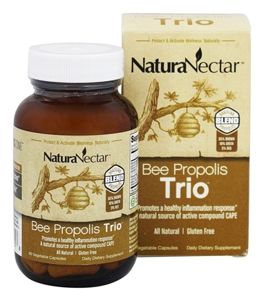 NaturaNectar - All Natural Bee Propolis Trio - 60 Vegetarian Capsules