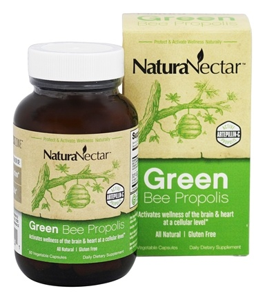 DROPPED: NaturaNectar - All Natural Green Bee Propolis - 60 Vegetarian Capsules