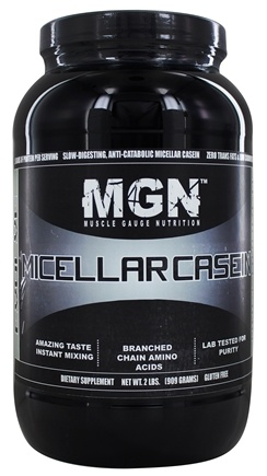 Muscle Gauge Nutrition - Micellar Casein Unflavored - 2 lbs.