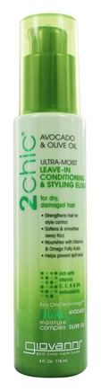 Giovanni - 2Chic Avocado & Olive Oil Ultra-Moist Leave-In Conditioning & Styling Elixir - 4 oz.