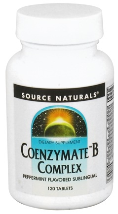 DROPPED: Source Naturals - Coenzymate B Complex Sublinguals Peppermint - 120 Tablets CLEARANCE PRICED