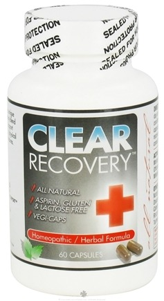 DROPPED: Clear Products - Clear Recovery Homeopathic/Herbal Formula - 60 Vegetarian Capsules CLEARANCE PRICED