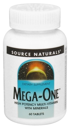 DROPPED: Source Naturals - Mega-One Multi-Vitamin - 60 Tablets CLEARANCE PRICED