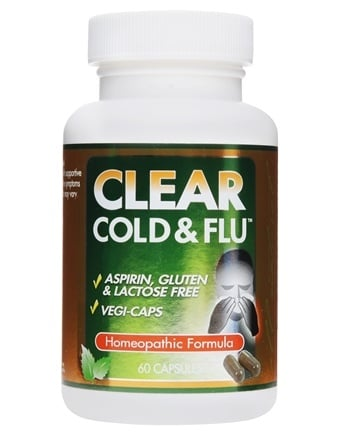 DROPPED: Clear Products - Clear Cold & Flu Homeopathic/Herbal Relief Formula - 60 Capsules CLEARANCE PRICED