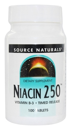 DROPPED: Source Naturals - Niacin 250 Vitamin B-3 Timed Release 250 mg. - 100 Tablets