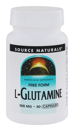 Source Naturals - L-Glutamine Free Form Amino Acid 500 mg. - 50 Capsules