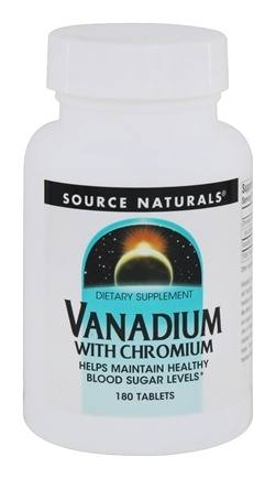 Source Naturals - Vanadium With Chromium - 180 Tablets