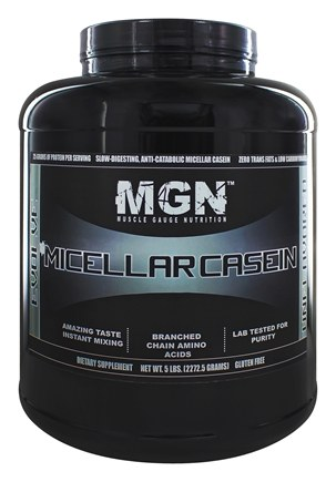 Muscle Gauge Nutrition - Micellar Casein Unflavored - 5 lbs.