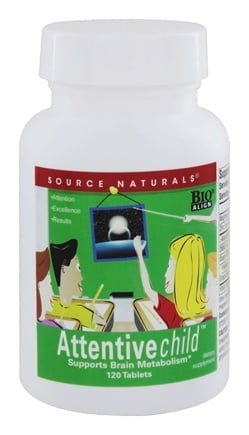 Source Naturals - Attentive Child - 120 Tablets