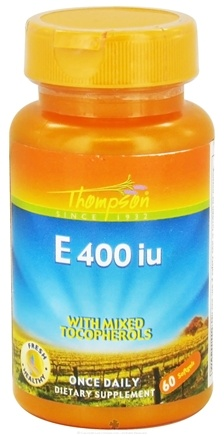 DROPPED: Thompson - Vitamin E with Mixed Tocopherols 400 IU - 60 Softgels CLEARANCE PRICED