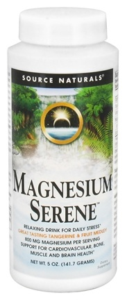 DROPPED: Source Naturals - Magnesium Serene Tangerine & Fruit Medley 800 mg. - 5 oz. CLEARANCE PRICED