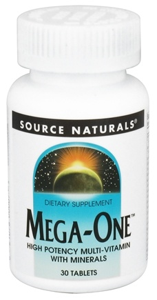 DROPPED: Source Naturals - Mega-One Multi-Vitamin - 30 Tablets CLEARANCE PRICED