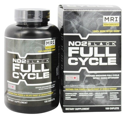MRI: Medical Research Institute - NO2 Black Full Cycle Nitric Oxide Optimizer - 150 Caplets
