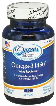 DROPPED: Ocean Blue Professional - Omega-3 1450 mg. - 60 Softgels
