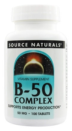 Source Naturals - Vitamin B-50 Complex 50 mg. - 100 Tablets