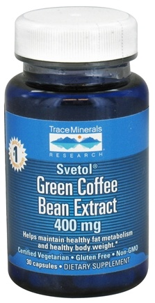 DROPPED: Trace Minerals Research - Pure Svetol Green Coffee Bean Extract 400 mg. - 30 Capsules CLEARANCE PRICED