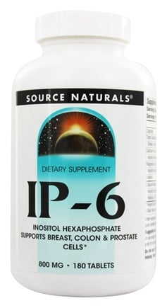 Source Naturals - IP-6 Inositol Hexaphosphate 800 mg. - 180 Tablets
